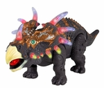 Walking Triceratops Dinosaur Toy with Flashing Lights