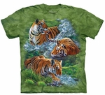 Water Tiger Collage Youth T-shirt