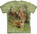 Wild Tiger Collage Youth & Adult T-shirt