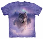 Wolf Northern Lights Youth & Adult T-shirt