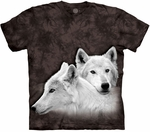 Wolves Siblings Adult T-shirt