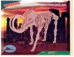 3D Woolly Mammoth Wooden Puzzle Construction Skeleton Kit