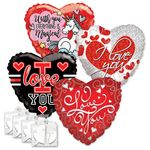"18"" Love Balloon Assortment W/Weights"