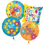 "18"" Get Well Balloon Assortment W/Weights"