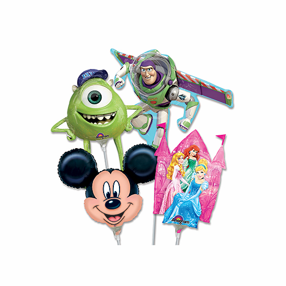 """14"""" Disney Character Air-Filled Shape Balloons"""