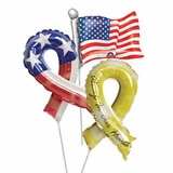 """14"""" Patriotic Air-Filled Shape Balloons"""