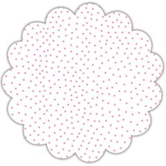 "16"" Light Pink Tiny Dots Scalloped Cellophane Sheets"