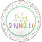 "17"" Baby Sprinkle Helium Saver Balloon"
