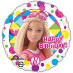 "17"" Barbie Sparkle Happy Birthday Helium Savers Balloon"