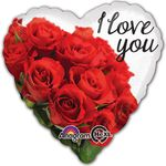 "17"" I Love You Rose Bouquet Helium Savers Balloon"