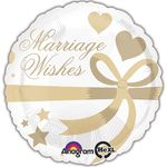 "17"" Marriage Wishes Balloon Helium Saver Balloon"
