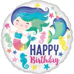 "17"" Sealife Happy Birthday Helium Saver Balloon"
