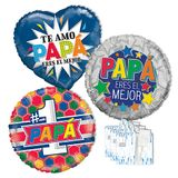 """18"""" Spanish Father's Day Balloon Assortment with Weights"""