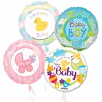 "18"" Baby Balloon Assortment with Ribbon"