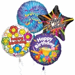 "18"" Birthday Balloon Assortment with Ribbon"