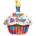"18"" Birthday Cupcake Shape Balloon"