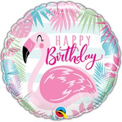 "18"" Birthday Flamingo Balloon"