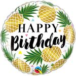 "18"" Birthday Golden Pineapples Balloon"