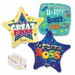 "18"" Boss's Day Balloon Assortment with Weight"