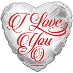 "18"" BV I Love You White Balloon"