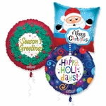 "18"" Christmas Balloon Assortment with Ribbon"