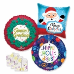 "18"" Christmas Balloon Assortment with Weight"