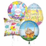 "18"" Easter Balloon Assortment with Ribbon"