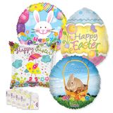 "18"" Easter Balloon Assortment with Weight"