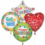 "18"" Everyday Balloon Assortment with Ribbon"