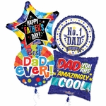 "18"" Father's Day Balloon Assortment with Ribbon"