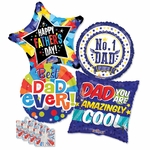 "18"" Father's Day Balloon Assortment with Weight"