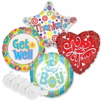 "18"" General Sentiment Balloon Assortment with Ribbon Weight"