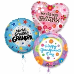 "18"" Grandparents Day Balloon Assortment with Ribbon"