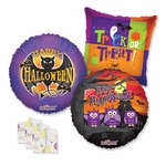 "18"" Halloween Balloon Assortment with Weight"