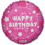 "18"" Holographic Pink Birthday Balloon"