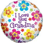 "18"" I Love Grandma  Holographic Balloon"