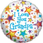 "18"" I Love Grandpa  Holographic Balloon"