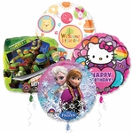 "18"" Licensed Character Balloon Assortment with Ribbon"