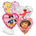 "18"" Licensed Valentine Balloon Assortment with Weight"