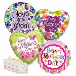 "18"" Mother's Day Balloon Assortment with Weight"