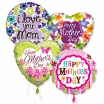"18"" Mother's Day Balloons with Ribbon"