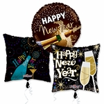 "18"" New Year's Balloon Assortment with Ribbon"