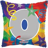 """18"""" Party Number 0 Balloon"""
