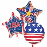 "18"" Patriotic Balloon Assortment with Ribbon"