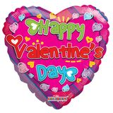 """18"""" Happy Valentine's Day Colorful Balloon"""