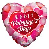 """18"""" PR HVD Floating Hearts Clearview Balloon"""