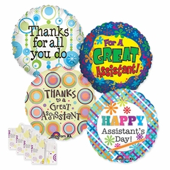 """18"""" Administrative Professional's Day Balloon Assortment with Weight"""