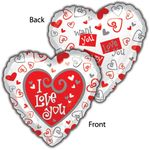 "17"" Simply Said Love Helium Savers Balloon"