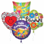 "18"" Spanish Everyday Balloon Assortment with Ribbon"
