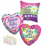 "18"" Spanish Mother's Day Balloon Assortment with Weight"